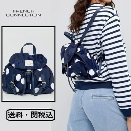 Dots Casual Style Backpacks