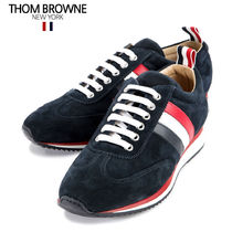THOM BROWNE Stripes Leather Sneakers