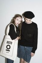 JUSTO Unisex Canvas Street Style Shoppers