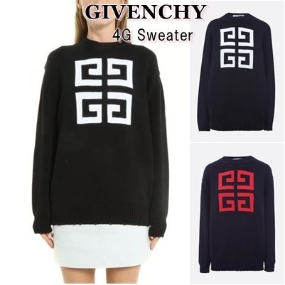 GIVENCHY Knits & Sweaters Crew Neck Pullovers Long Sleeves Cotton Knits & Sweaters