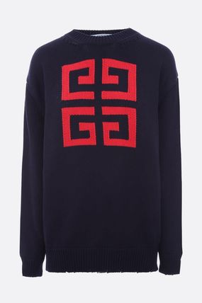 GIVENCHY Knits & Sweaters Crew Neck Pullovers Long Sleeves Cotton Knits & Sweaters 8