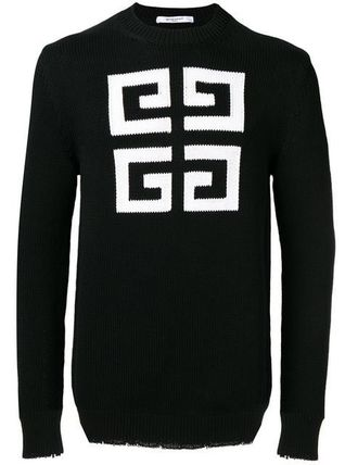 GIVENCHY Knits & Sweaters Crew Neck Pullovers Long Sleeves Cotton Knits & Sweaters 2