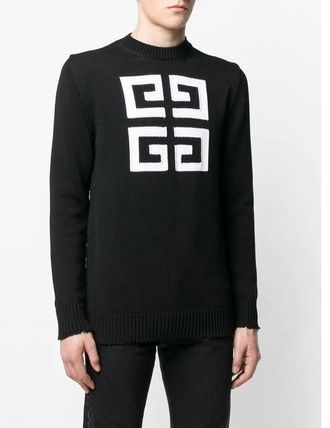 GIVENCHY Knits & Sweaters Crew Neck Pullovers Long Sleeves Cotton Knits & Sweaters 4