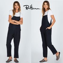 Ron Herman Dungarees Casual Style Blended Fabrics Plain Cotton Long