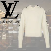 Louis Vuitton Casual Style Wool Long Sleeves Plain Medium Tops