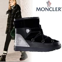 MONCLER Casual Style Plain Leather Ankle & Booties Boots