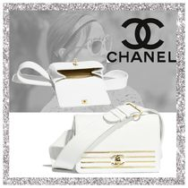 CHANEL Stripes Calfskin Plain Bags