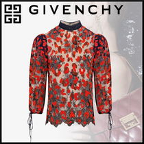 GIVENCHY Flower Patterns Leopard Patterns Blended Fabrics Medium Lace