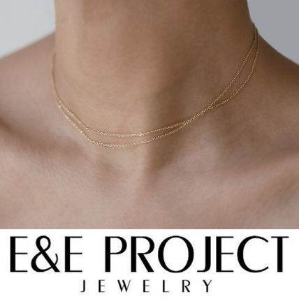 E and E PROJECT Fine Jewelry Chain Silver 14K Gold Fine