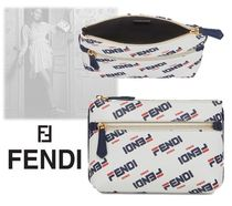 FENDI Calfskin Pouches & Cosmetic Bags