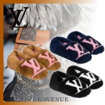 Louis Vuitton Platform Casual Style Slippers Slip-On Shoes
