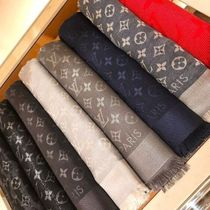 Louis Vuitton MONOGRAM Monogram Unisex Wool Blended Fabrics Bi-color Scarves