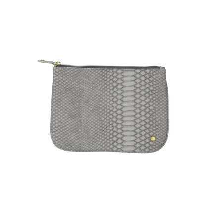 Faux Fur Python Co-ord Pouches & Cosmetic Bags