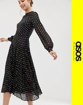 ASOS Dots Casual Style Long Sleeves Dresses