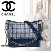 CHANEL Other Check Patterns Calfskin Blended Fabrics 2WAY Chain