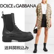 Dolce & Gabbana Casual Style Plain Leather Chelsea Boots