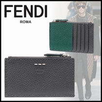 FENDI Bi-color Leather Coin Cases