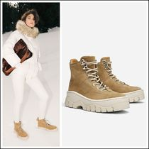 Uterque Platform Mountain Boots Casual Style Suede Plain