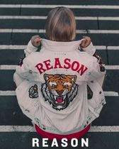 REASON Short Leopard Patterns Casual Style Street Style