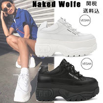 Naked Wolfe Platform Round Toe Casual Style Faux Fur Street Style Plain