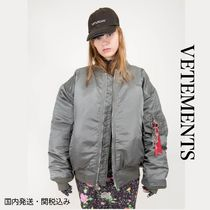 VETEMENTS Short Street Style Oversized Bomber Jackets