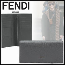 FENDI SELLERIA Leather Long Wallets