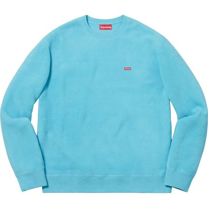 Supreme Sweatshirts Crew Neck Unisex Street Style Long Sleeves Plain Sweatshirts 3