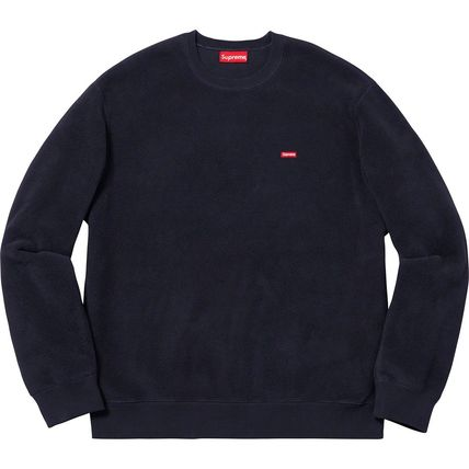 Supreme Sweatshirts Crew Neck Unisex Street Style Long Sleeves Plain Sweatshirts 5