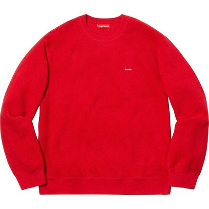 Supreme Sweatshirts Crew Neck Unisex Street Style Long Sleeves Plain Sweatshirts 6