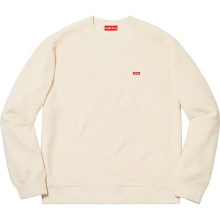 Supreme Sweatshirts Crew Neck Unisex Street Style Long Sleeves Plain Sweatshirts 8