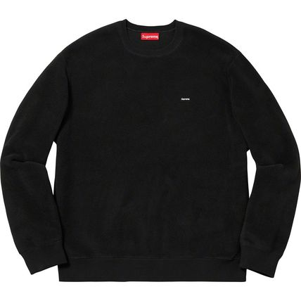 Supreme Sweatshirts Crew Neck Unisex Street Style Long Sleeves Plain Sweatshirts 9