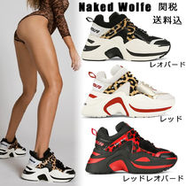 Naked Wolfe Round Toe Casual Style Street Style Plain Leather