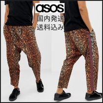 ASOS Leopard Patterns Cotton Sarouel Pants