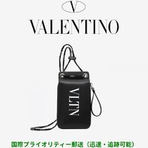 VALENTINO VLTN Calfskin Plain Folding Wallets