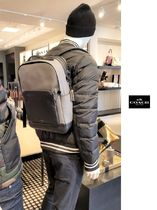 Coach Monogram Street Style A4 Plain Leather Bold Backpacks