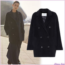MaxMara Casual Style Wool Plain Medium Peacoats