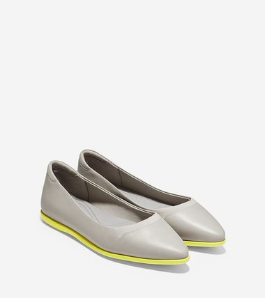 Rubber Sole Casual Style Plain Leather Slip-On Shoes
