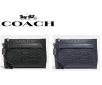 Coach Bag in Bag 2WAY Plain Leather Clutches