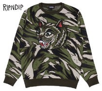 RIPNDIP Camouflage Street Style Long Sleeves Knits & Sweaters