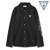 Guess Unisex Street Style Plain Coach Jackets