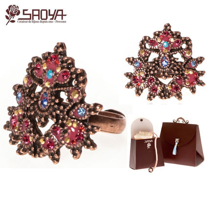 Costume Jewelry With Jewels Elegant Style Rings