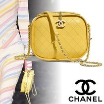 CHANEL Casual Style Calfskin Vanity Bags 2WAY Chain Shoulder Bags