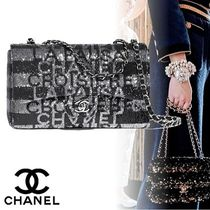 CHANEL Stripes Casual Style 2WAY Chain Shoulder Bags