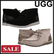UGG Australia Suede Blended Fabrics Plain Chukkas Boots