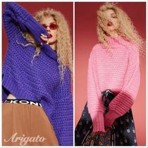 ELF SACK Cable Knit Casual Style Street Style Long Sleeves Plain