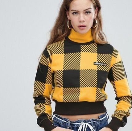 Short Other Check Patterns Sweat Street Style Long Sleeves