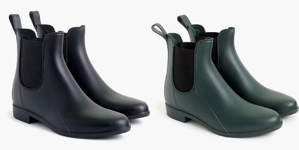 Plain PVC Clothing Flat Boots