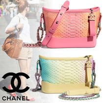 CHANEL Blended Fabrics 2WAY Chain Plain Leather Python