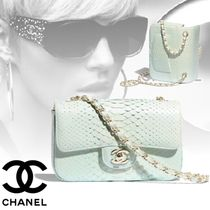 CHANEL Blended Fabrics 2WAY Chain Python Elegant Style