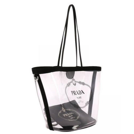 PRADA Totes Casual Style Blended Fabrics Plain Crystal Clear Bags 7